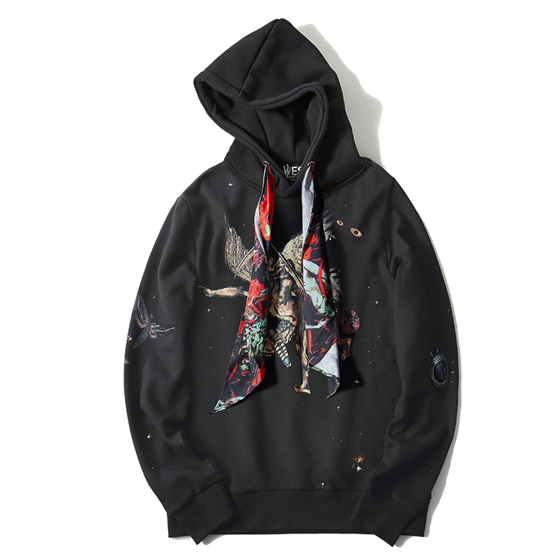 Nueva Sudadera con capucha de hombre 19ss Grim Sudadera con capucha de Reaper Sudadera con capucha de algodón de terciopelo Drake grueso vellón calle Hip hop # H43