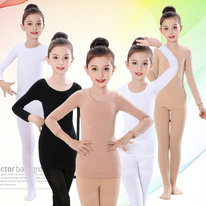 Autumn Winter Kids Thermal Underwear Set Fleece Thick Warm Dance Girls Long Johns Children Underwear