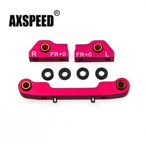 AXSPEED 1Set Aluminum Front&Rear Suspension Mount FF+0 for RC Sakura D4 1/10 RC Sport Car High Quality