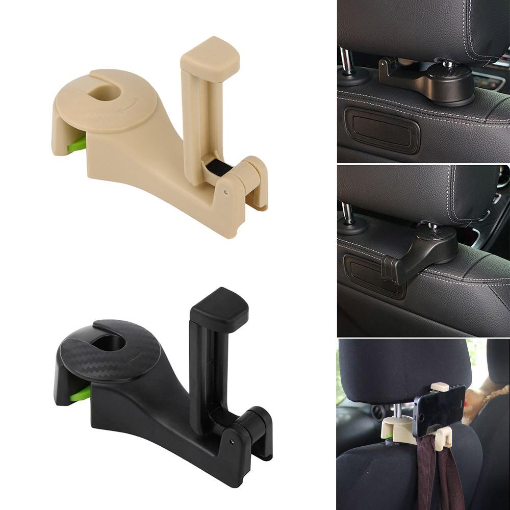 Encosto de cabeça do carro gancho do telefone suporte de assento de carro gancho para lada granta vesta kalina priora niva xray largus hyundai tucson polo passat b6