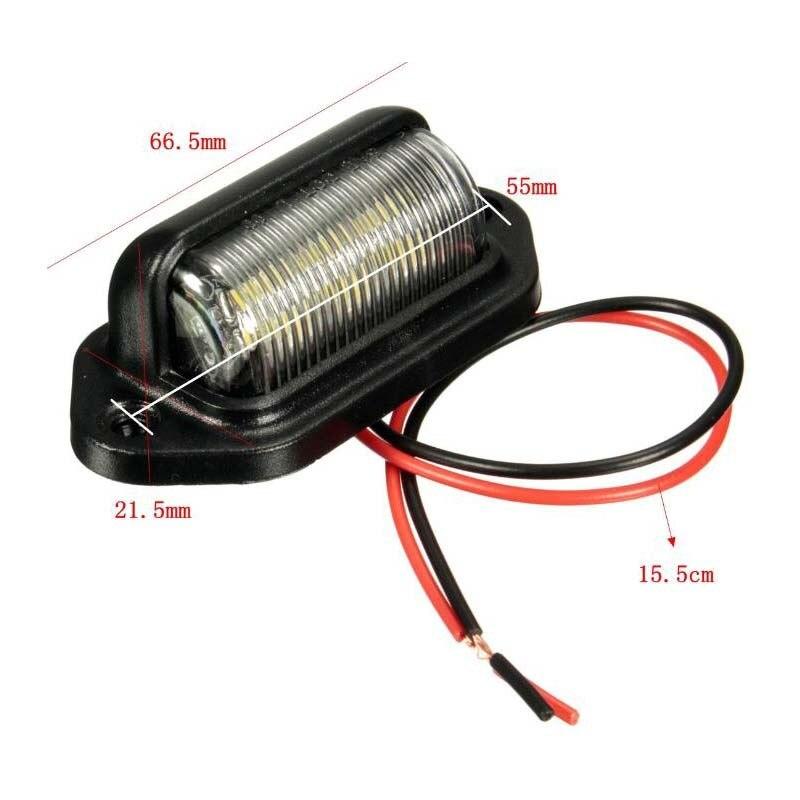 1 bombilla luz LED de matrícula de 12V para motocicleta automotriz, avión RV, camión, remolque, barcos, diseño de coche blanco