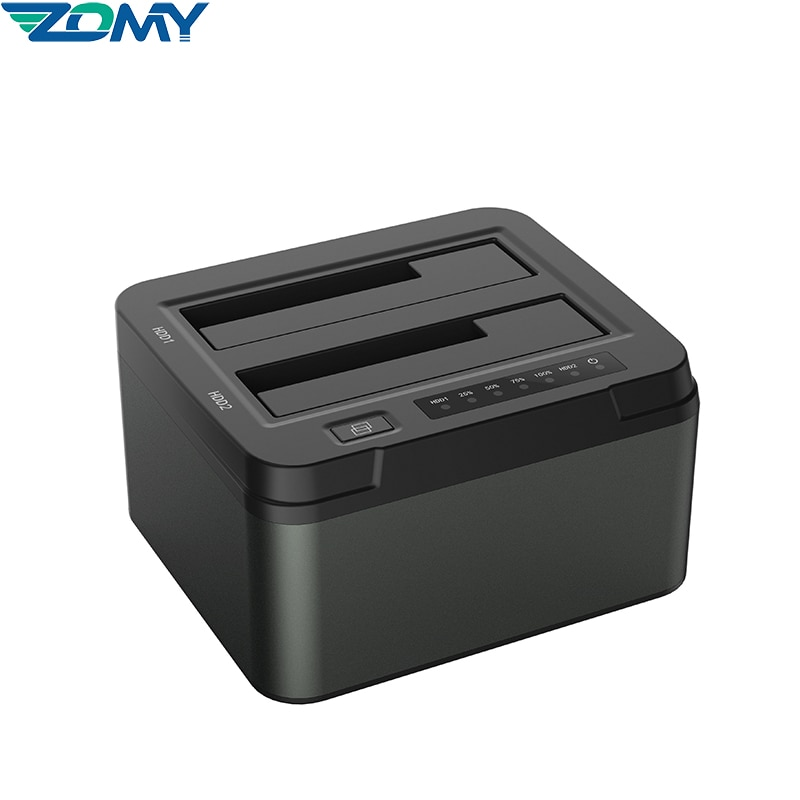 Docking Station USB 3.0 to SATA 2-Bay USB 3.0 HDD Adapter for 2.5 & 3.5 inch SATA SSD Cloner Support 2 x 8 TB SSD Duplicator