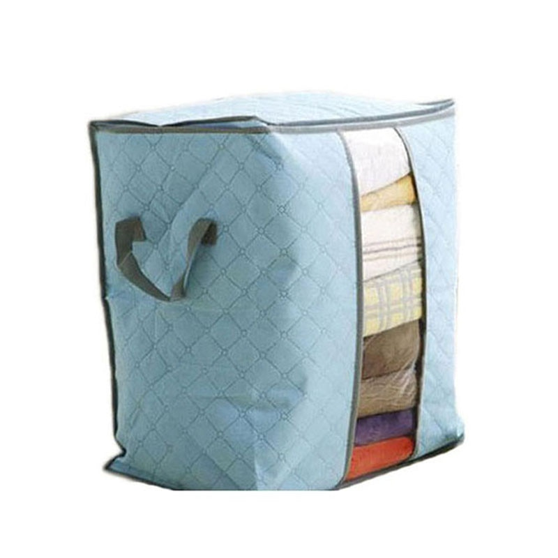 Storage Bag Non-Woven Quilt Clothes Storage Bag Zipper Folding Portable Closet Organizer Bag For Blanket Pillow Bag#2