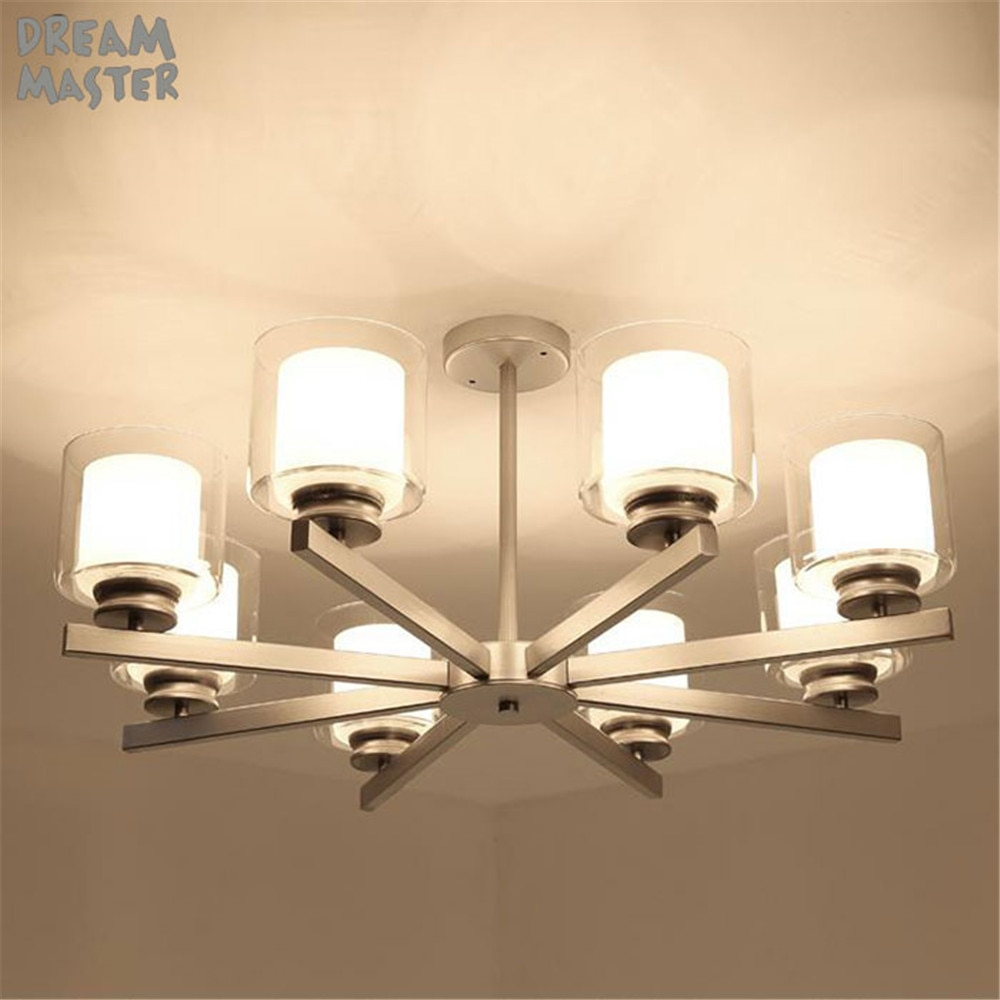 Modernos candelabros de lujo que iluminan la pantalla de cristal de Metal negro, lámpara colgante para sala de estar, comedor, lustres, lámparas de iluminación