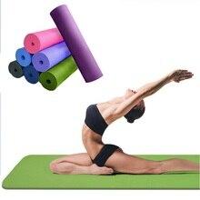 Tpe yoga mat 6mm voor beginners antislip sport mat antislip fitness mat colchonete gym mat oefening 183*61*0.6 cm