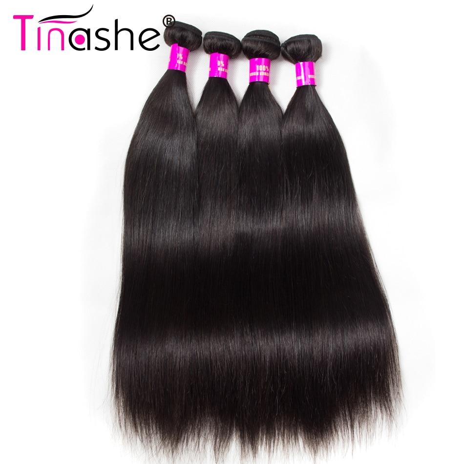 Tinashe, cabello lacio, 4 mechones, extensiones de pelo ondulado brasileño, mechones, extensión de cabello humano de Color negro Natural, mechones de 10 a 30 pulgadas