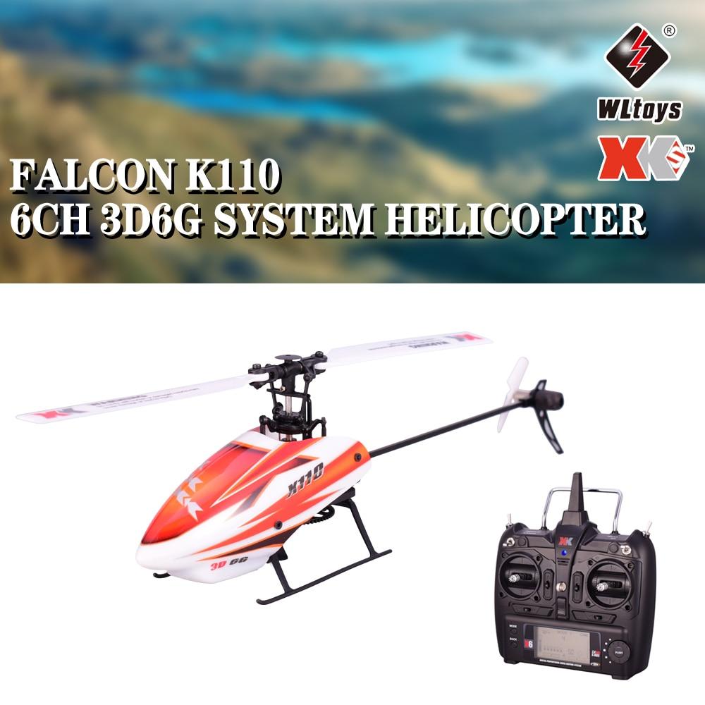 Wltoys XK K110 6CH 3D 6G sistema de Control remoto sin escobillas Motor RC helicóptero de juguete con transmisor Compatible con FUTABA S-FHSS