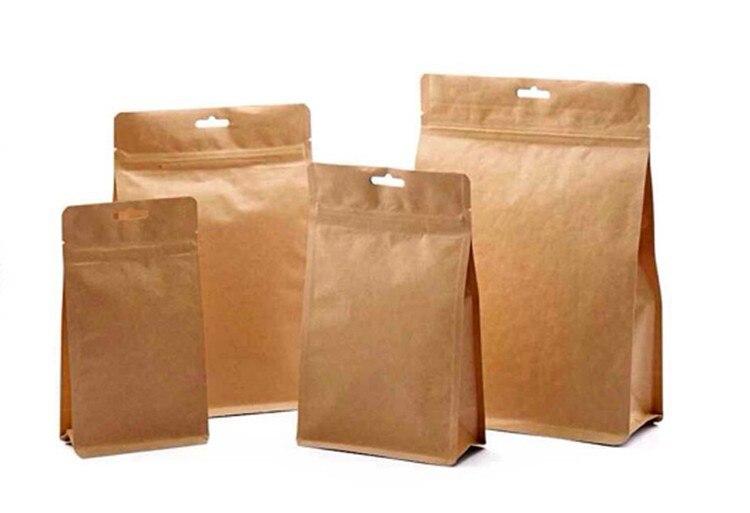 حقيبة المسحوق قفل بسحّاب ورق الكرافت موضة جديدة ثلاثية الأبعاد 11x20 سنتيمتر 6 سنتيمتر 50 قطعة آل احباط Wxh: