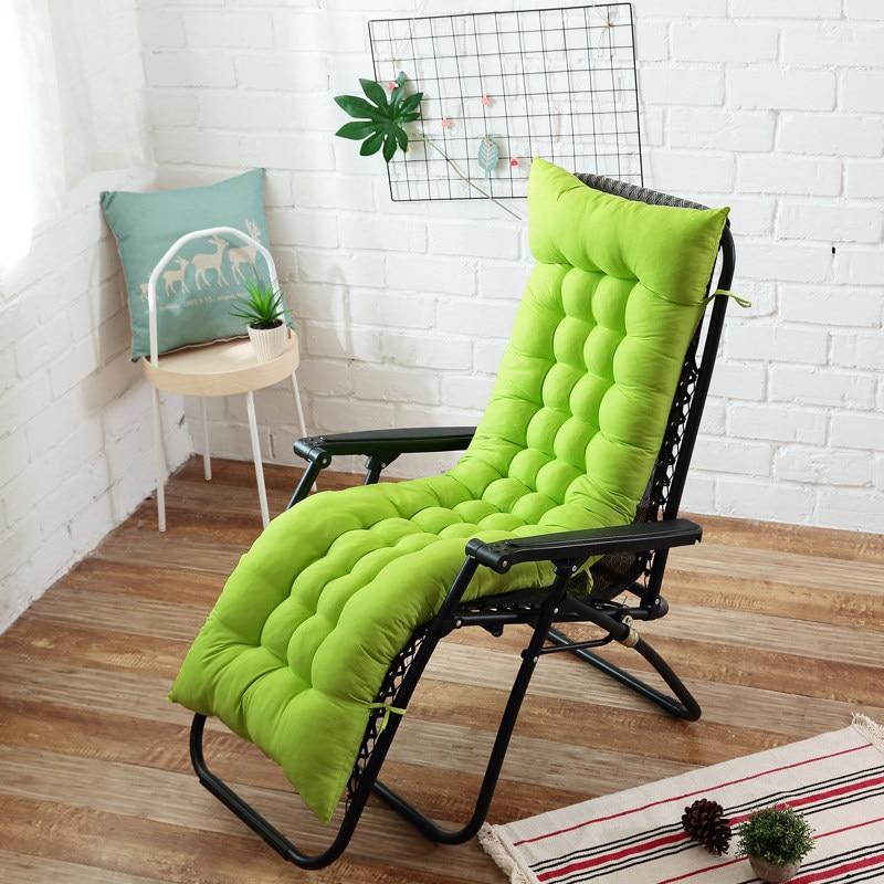 Tiempo cojín para silla reclinable espesar plegable silla cojín largo silla sofá cojín almohadilla para asiento jardín tumbona mat
