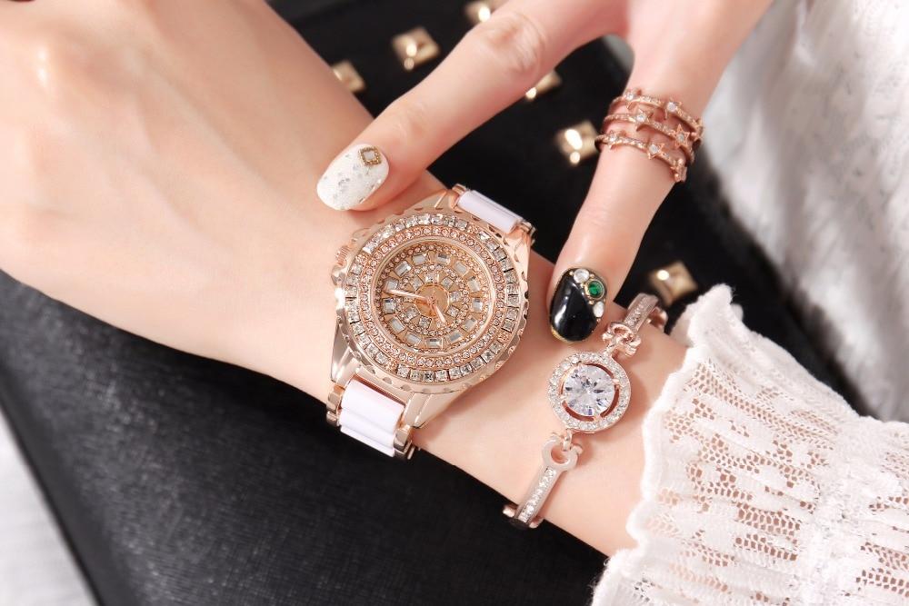2019 New Hot GEDI Fashion Ceramic Women Watches Top Luxury Brand Ladies Quartz Watch 2 Pieces Watches Relogio Feminino Hodinky enlarge
