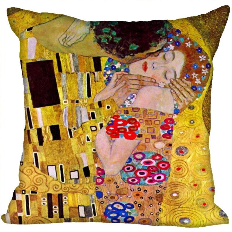 Custom Art Muster Kissen Fällen Gustav Klimt Platz Kissenbezug Weihnachten Reißverschluss Kissen Abdeckung 40*40cm,45*45cm (Eine Seite)