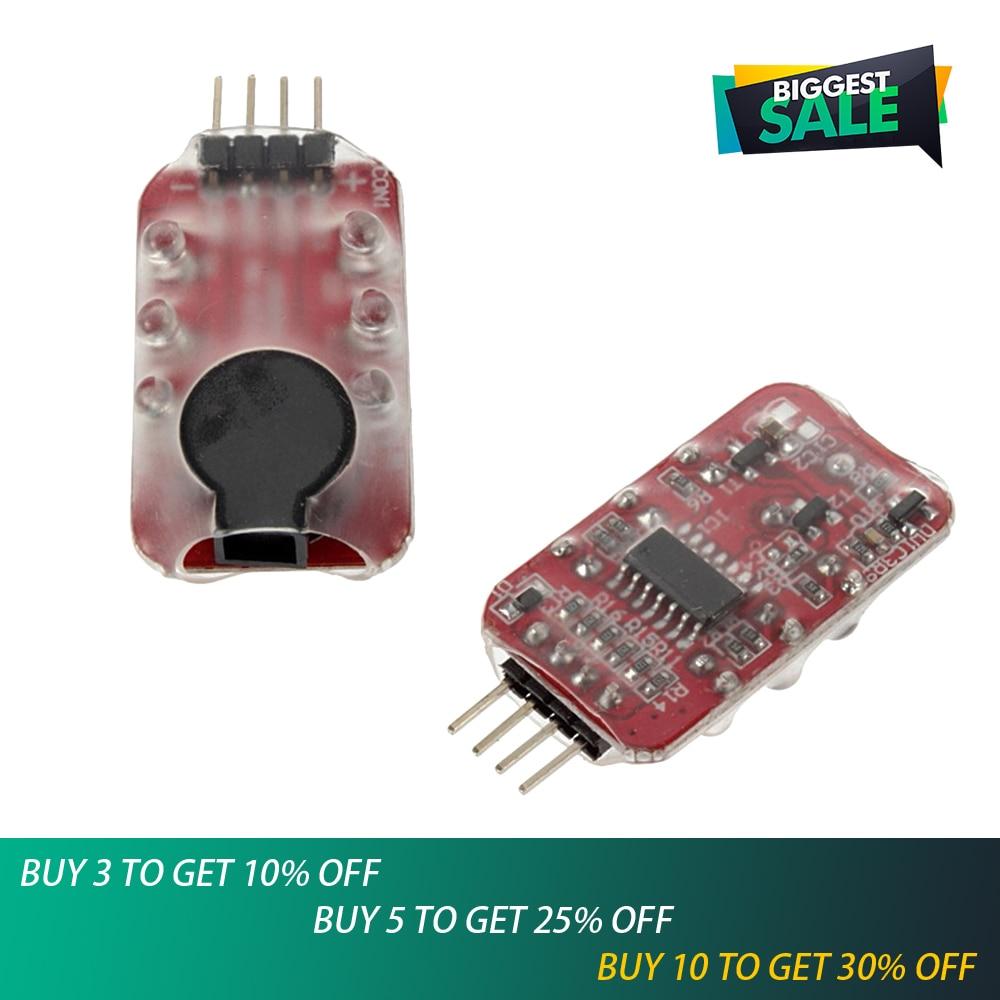1 Uds 7,4 V-11,1 V 2S-3S batería Lipo alarma de bajo voltaje zumbador altavoz indicador LED