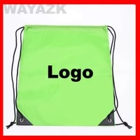 100pcslot size 35x40cm custom 210d polyester drawstring backpack with logo printed
