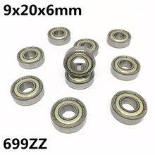 10 stücke 699ZZ 699-2Z L-2090ZZ 9x20x6mm rillen kugellager Miniatur lager Hohe qualität 699Z