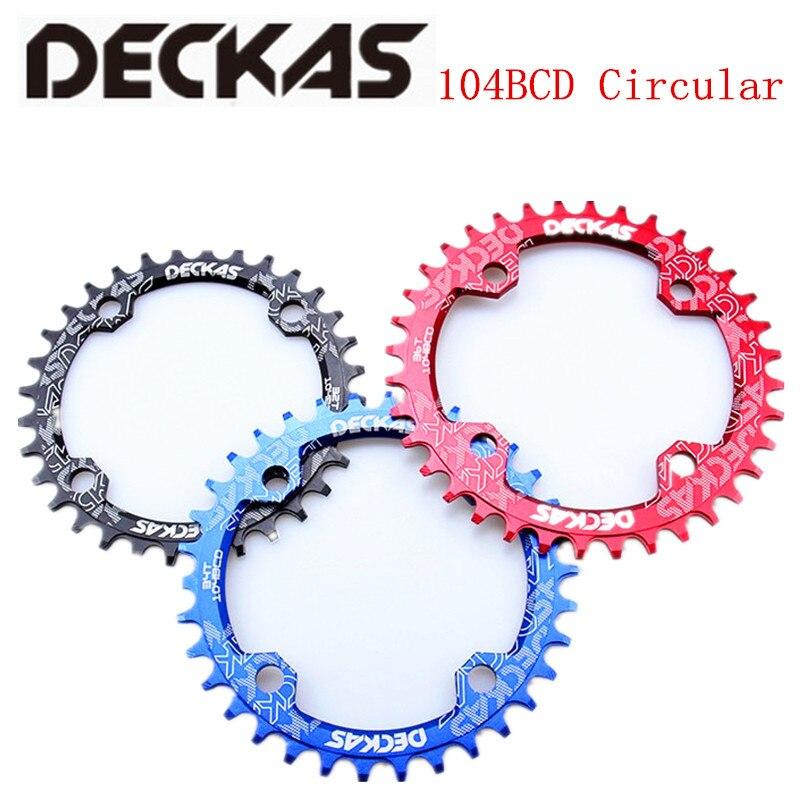 DECKAS 32/34/36/38T adecuado/9 /10 / 11S montaña manivela de bicicleta con rueda de cadena de aluminio Bcd104 plato para shimano M615 platos y bielas