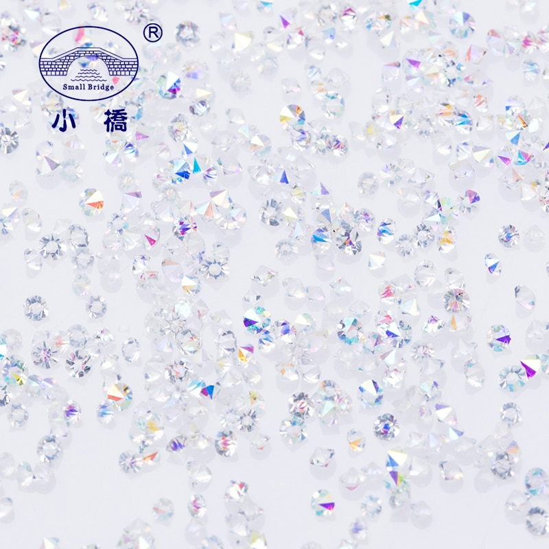 Маникюрные мини циркониевые Стразы 1,1 мм микро Хрустальные стеклянные стразы AB Стразы для украшения ногтей pixie1440шт/партия S012