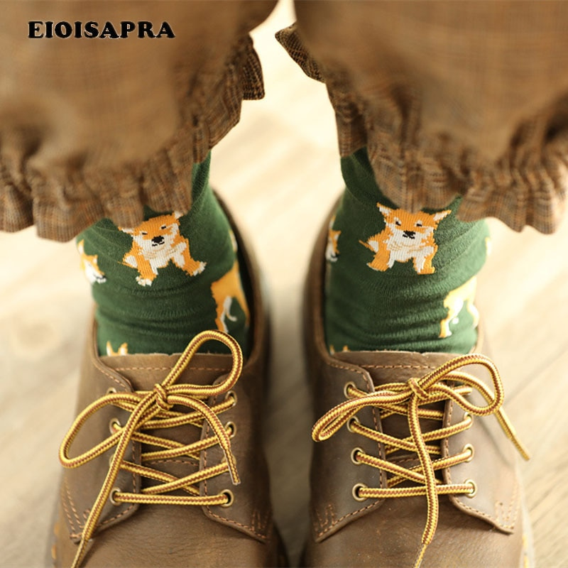 [EIOISAPRA] Leuke Piggy/Pug Ontwerp Grappige Sokken Vrouwen Creatieve Harajuku Kawaii Meias Hoge Kwaliteit Japan Sox Calcetines Mujer