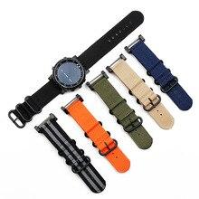 Watch accessories nylon strap pin buckle 24mm for Suunto core outdoor sports waterproof female brace