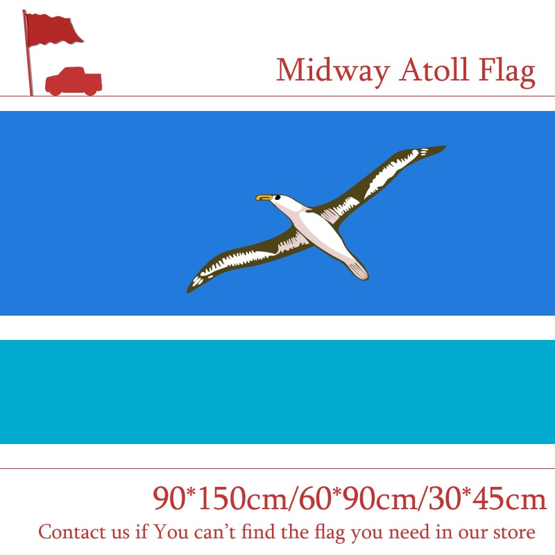 90*150 см 60*90 см США Midway флажок Атолл 30*45 см Автомобильный флаг 3x5ft 100d цифровой печатный баннер