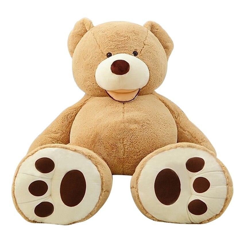 1 قطعة 100 سنتيمتر العملاق تيدي بير أفخم لعبة محشوة الحيوان عالية الجودة للأطفال اللعب هدية عيد ميلاد عيد الحب هدايا للبنات