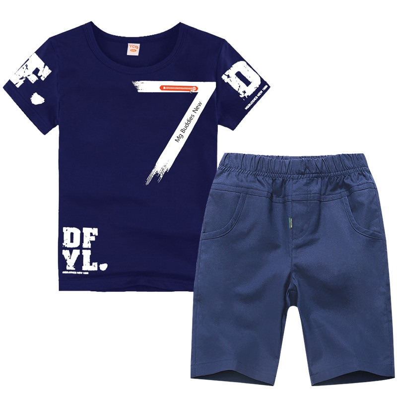 2019 verão meninos roupas esporte conjunto terno moda casual manga curta o pescoço das crianças conjunto 2 peças camiseta + calças