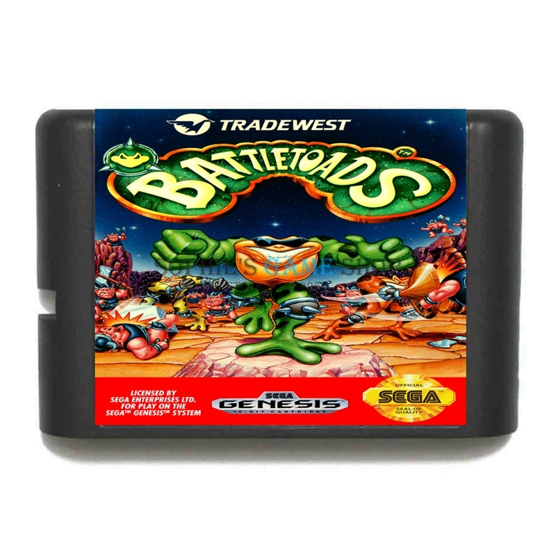 Battletoads Game Cartridge Newest 16 bit Game Card For Sega Mega Drive / Genesis System