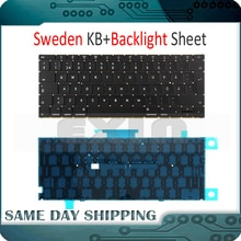 "New Laptop A1534 SW Sweden Swedish Keyboard w/ Backlight Backlit +Screws for Macbook 12"" A1534 Keyboard 2015 2016 2017 Year"