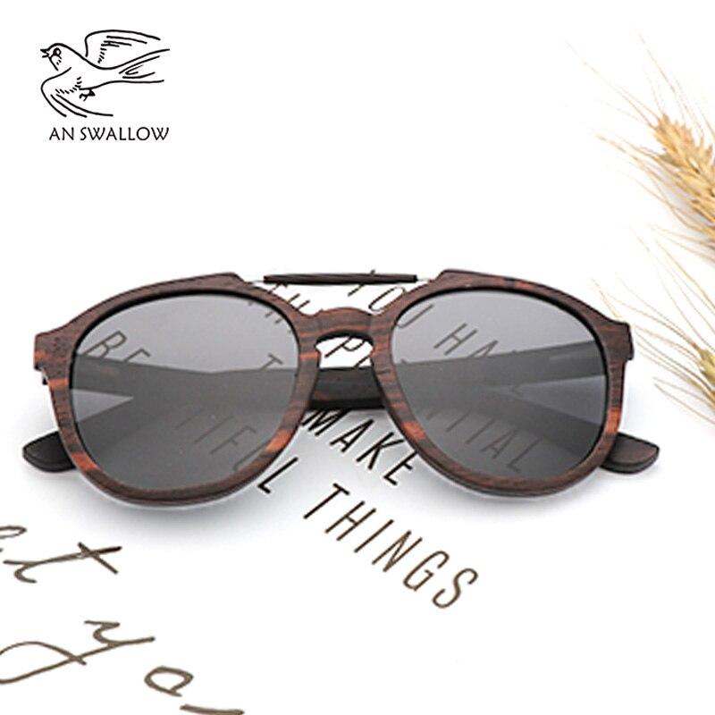 Mulher moda óculos de sol dos homens designer de marca óculos de sol de bambu multi-camada de ébano de madeira óculos de sol Frescos lentes polarizadas UV400