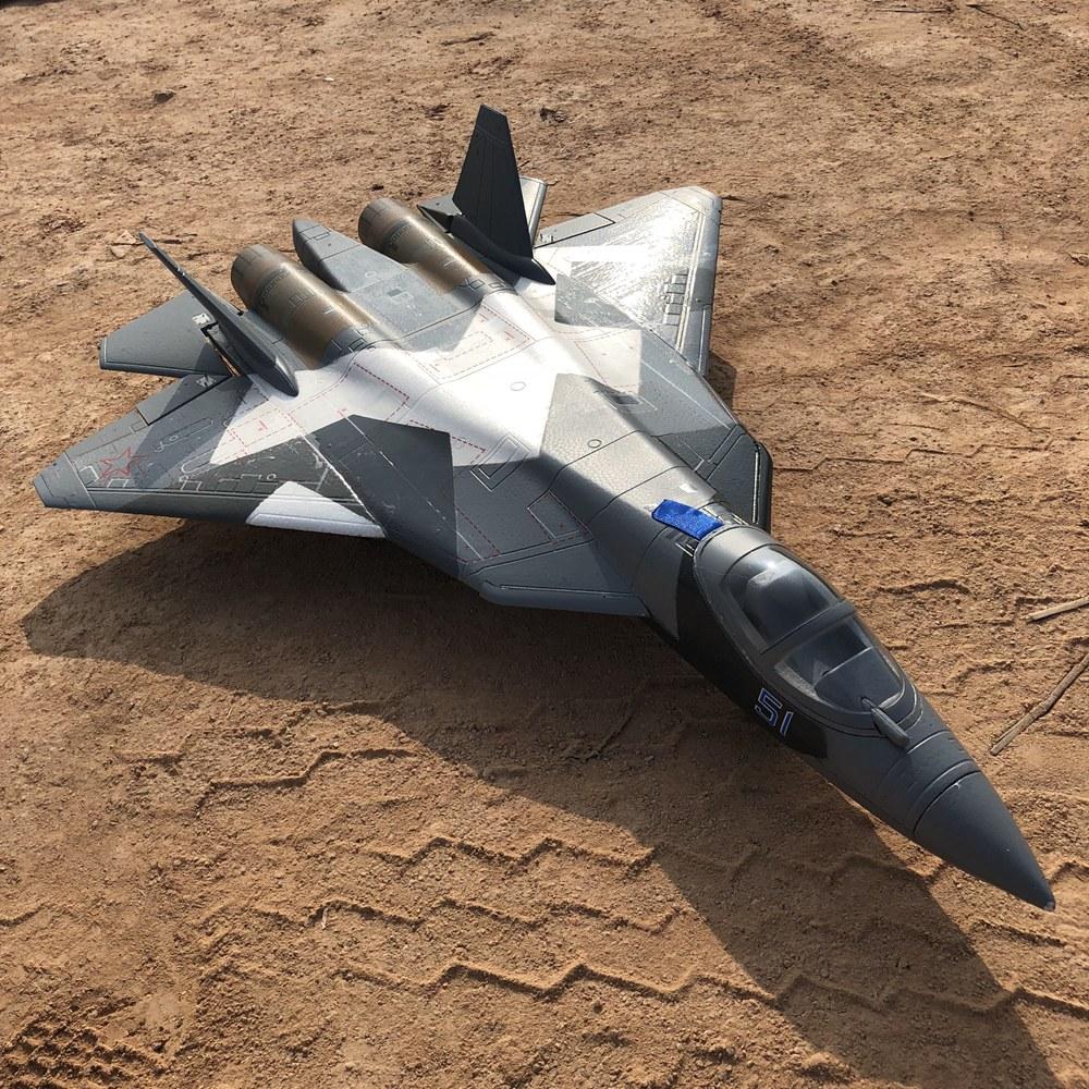 Duplo 50mm edf brinquedo elétrico rc avião hobby t50 T-50 edf jet modelo epo rtf pronto para voar, nenhuma versão da bateria