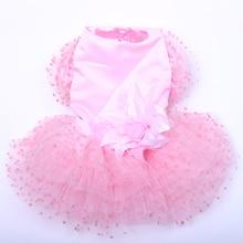 New Pet Dog Wedding Dress Tutu Big Flower Lace Design Cat Puppy Princess Skirt Dresses Spring/Summer Clothes Apparel 5 sizes