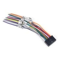dasaita dyx001 universal auto stereo radio wiring harness adapter diy plug connector 18pin with ant speaker 12v power test cable