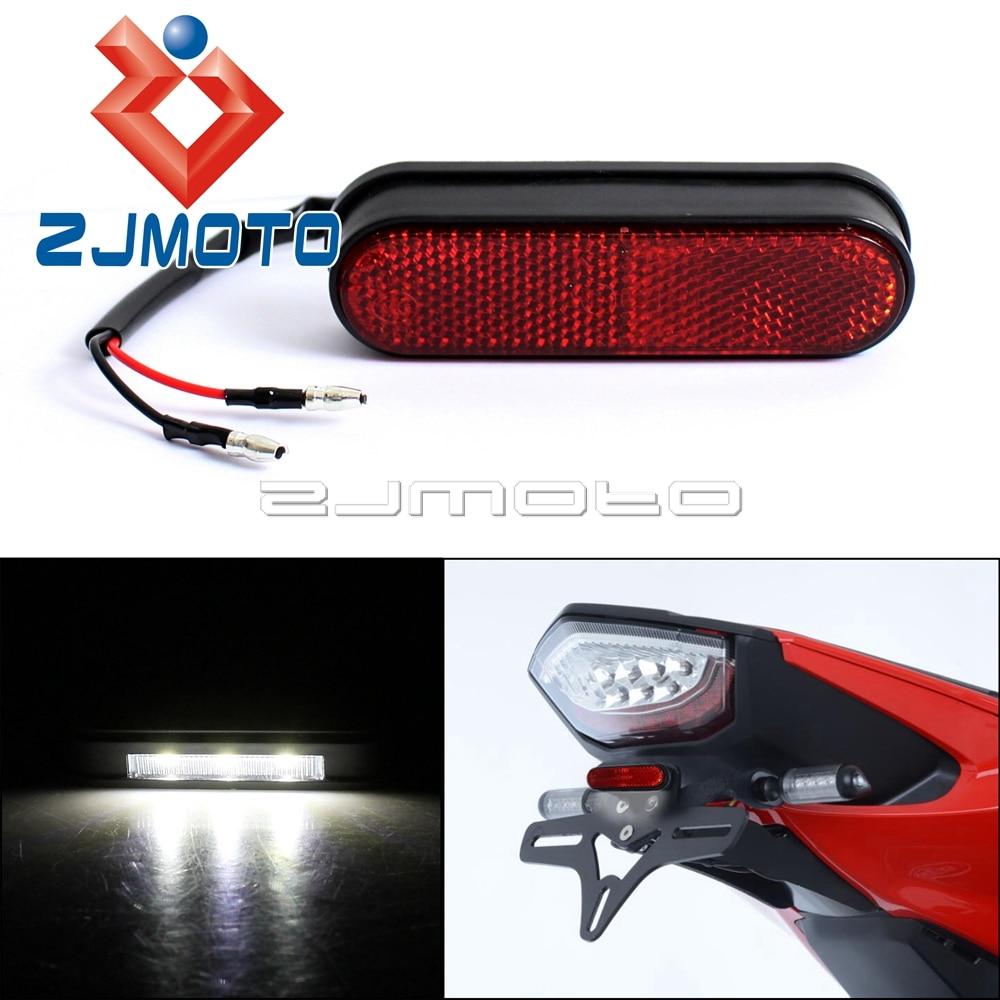1 шт. ZJMOTO Универсальный задний отражатель для мотоцикла номерной знак фонарь для уличного велосипеда Emark задний красный отражатель светодиодное Освещение номерного знака