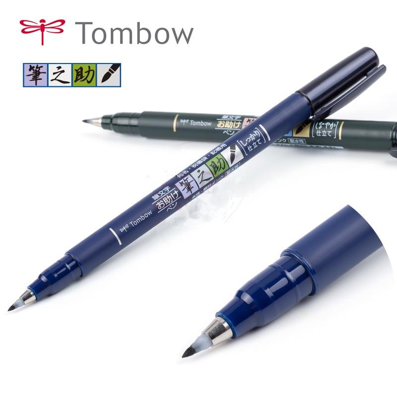 Tombow Fudenosuke Brush Pen Calligraphy Marker Pen Scriptliner Lettering Soft Handwriting Pen Japan