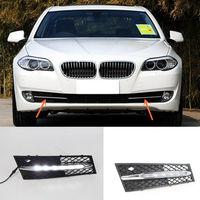 A Pair White LED Daytime Running Lights Fog Lamp DRL For BMW 5 Series 2010-2013