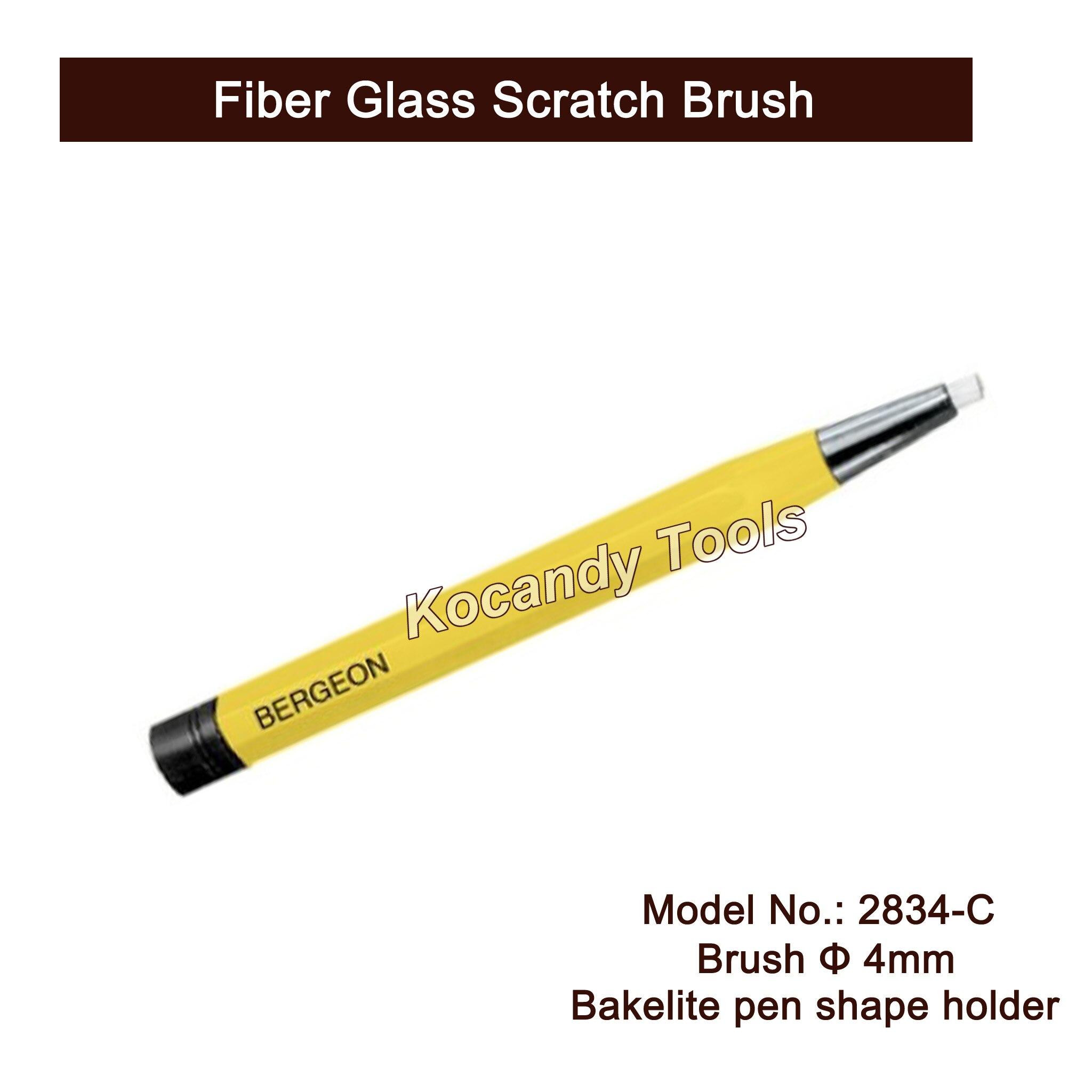 No.2834-C بيرجيون الألياف الزجاجية خدش فرشاة القلم شكل لساعة Scrach أداة إزالة