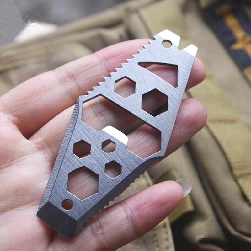 6-in-1 Raute Schlüssel Ring EDC Schraubendreher-set Tasche Outdoor-Tool Multitool Schlüsselbund Edelstahl