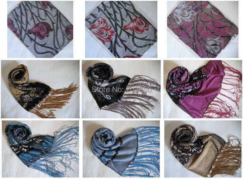 وشاح لف من الحرير المخملي المحبوك بألوان مختلفة 13 قطعة هدية الكريسماس