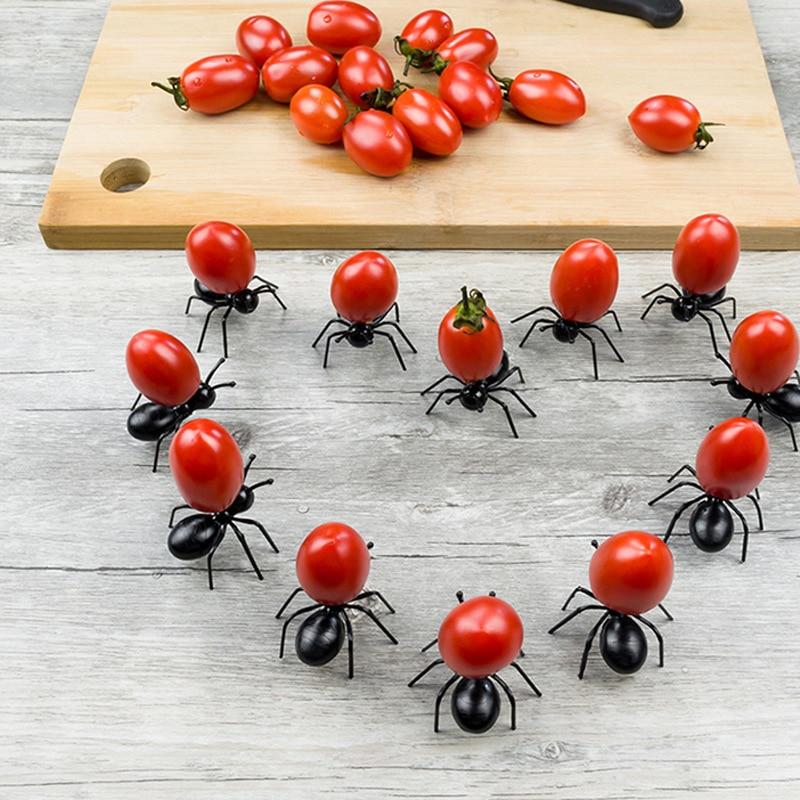 12 шт. муравьи еда фруктовые пики украшение форма муравья вилки закуска пирог десерт посуда для дома кухня Вечеринка ужин фрукты выбор