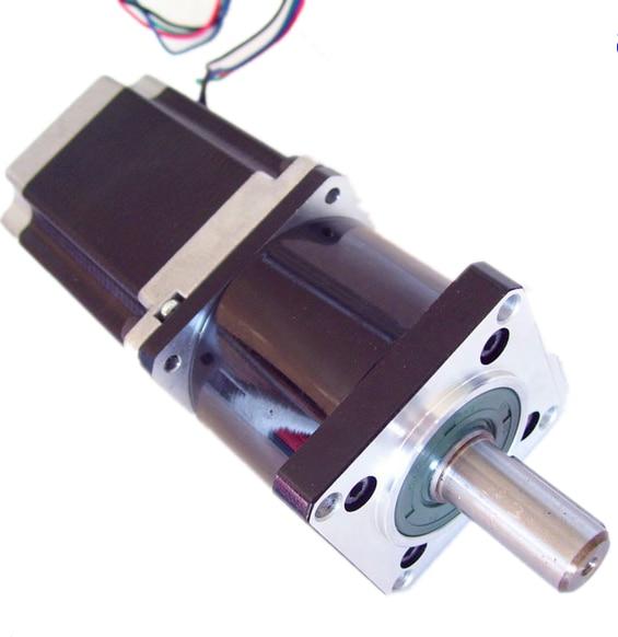 57mm Planetary Gearbox Geared Stepper Motor Ratio 51 NEMA23 L 76mm 3A