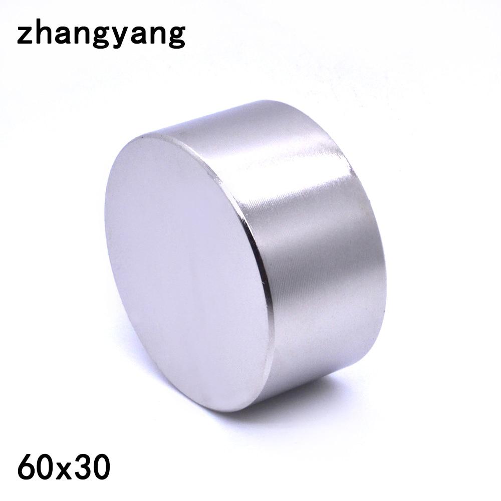 ZHANGYANG 1pcs Neodymium magnet 60x30 mm gallium metal new super strong round magnets 60*30 Neodimio magnet powerful permanent