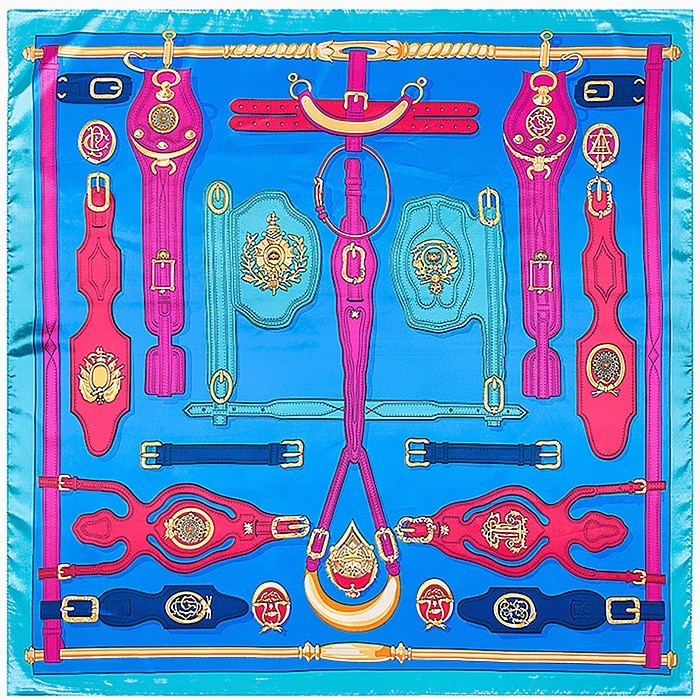 90cm * 90cm new scarf Europe and the United States equestrian leather scarf imitation silk scarves