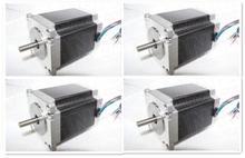 Wantai-4 pièces Nema 23 vaporisateur pas à dos 270oz-in 1.9N.m76mm 3.0A 4 têtes, CE ISO ROHS médical