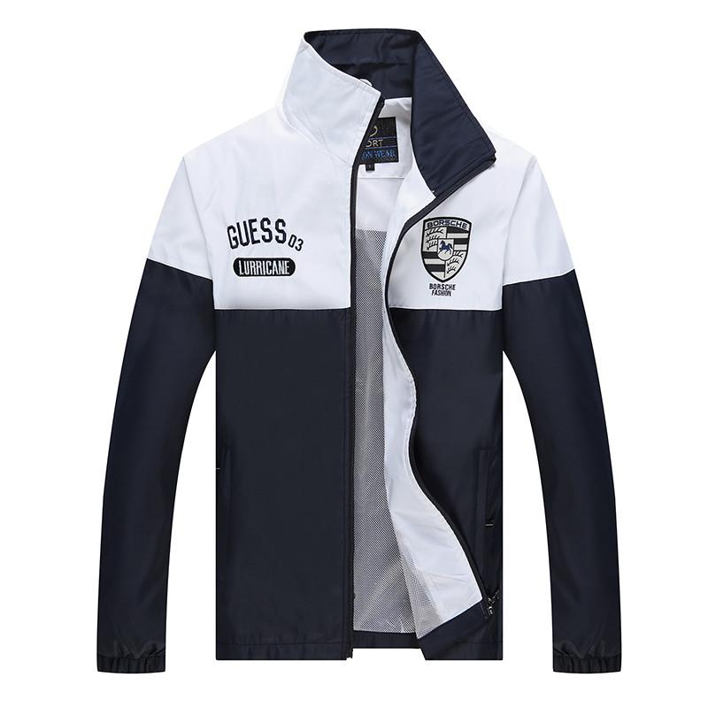 New Arrival Marka Dres Casual Sporta Kostiumu Mężczyźni Mody Bluzy Zestaw Kurtka + Spodnie 2 SZTUK Poliester Sportowej Mężczyzn 4XL 5XL SP019 15