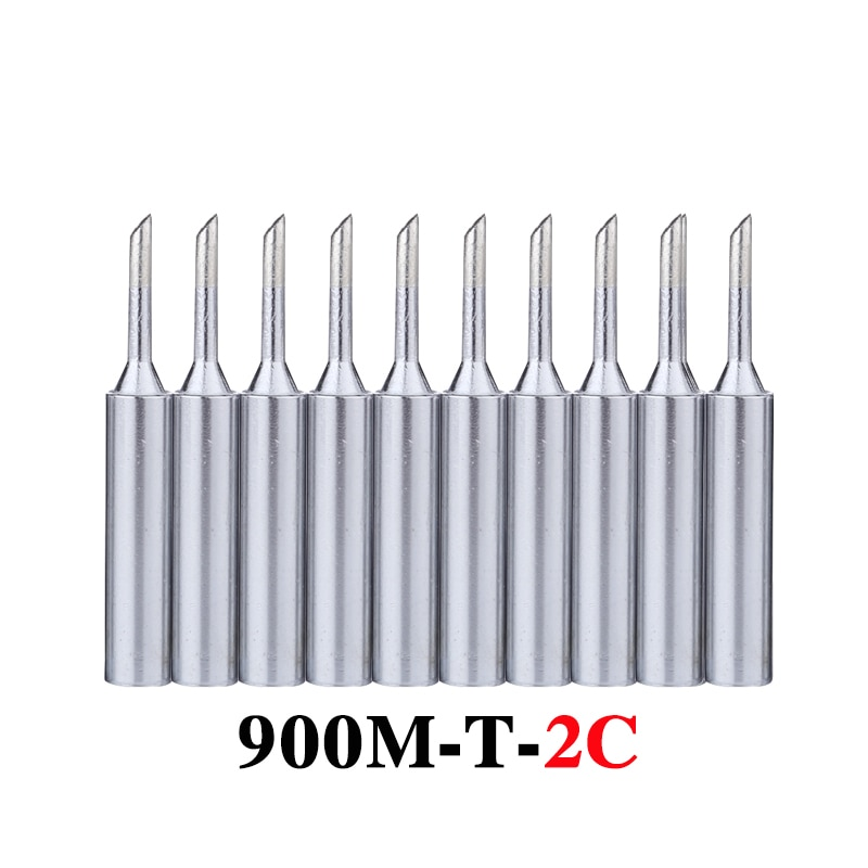 10 шт./лот наконечники паяльника 900M-T-2C Бессвинцовая металлическая сменная сварочная головка для паяльной станции 936