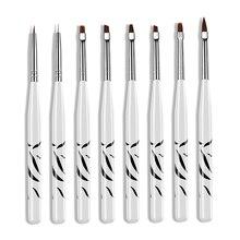 8 pièces motif de zèbre UV Gel stylo brosse Nail Art pinceau stylo pointillant dessin peinture Salon ensemble doutils 88