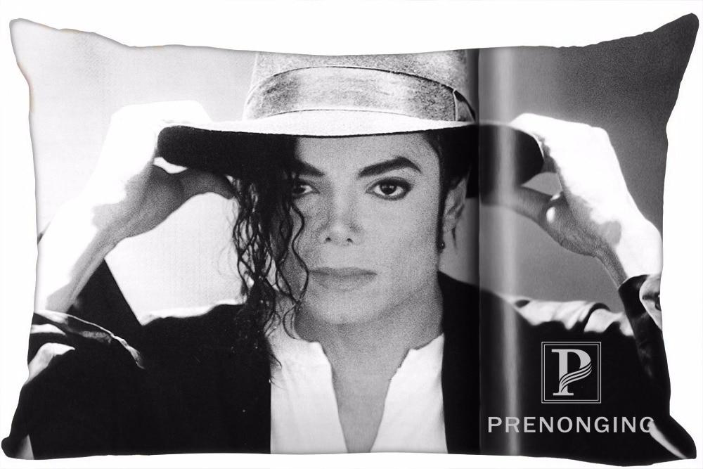 Best Custom Pillow Case Michael Jackson Rectangle Pillowcases zipper 35x45cm (One Side Print) @180117-64