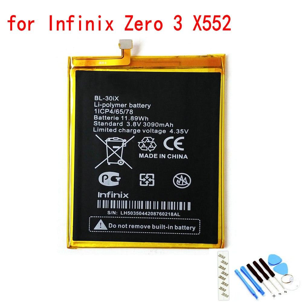 100% Новый оригинальный телефон, аккумулятор емкостью 3030 мАч для Infinix Zero 3 X552 BL-30IX