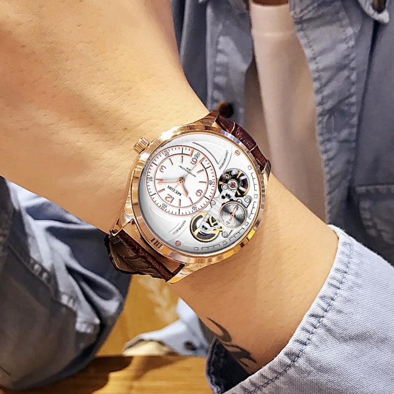 MEGIR Top Brand Quartz Wrist Watch Men Fashion Casual Men's Leather Strap Waterproof Sports Watches Clock Male Relogio Masculino