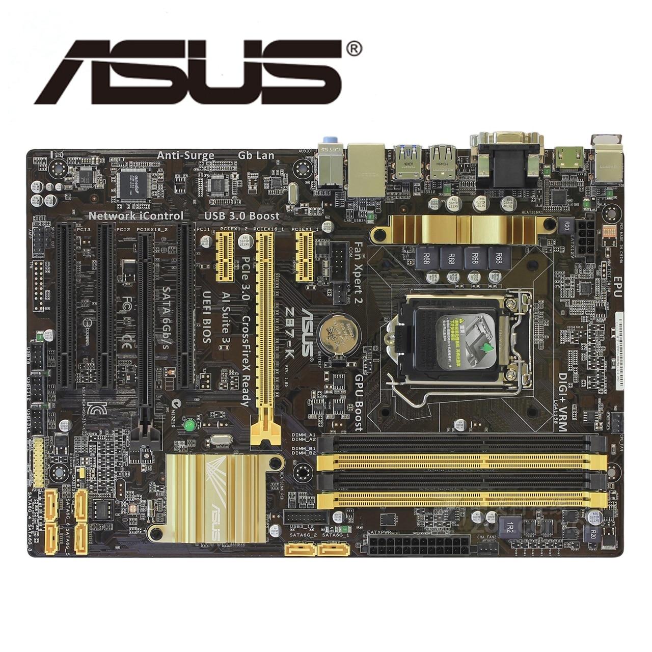 LGA 1150 DDR3 Z87 для ASUS Z87-k оригинальная материнская плата 32G Z87K настольная материнская плата USB3.0 SATA III VGA OC б/у