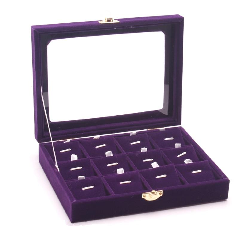 Joyería de moda organizador gemelos soporte de exhibición collar caja colgante bandeja de exhibición para Cajas de Regalo de joyería para niñas